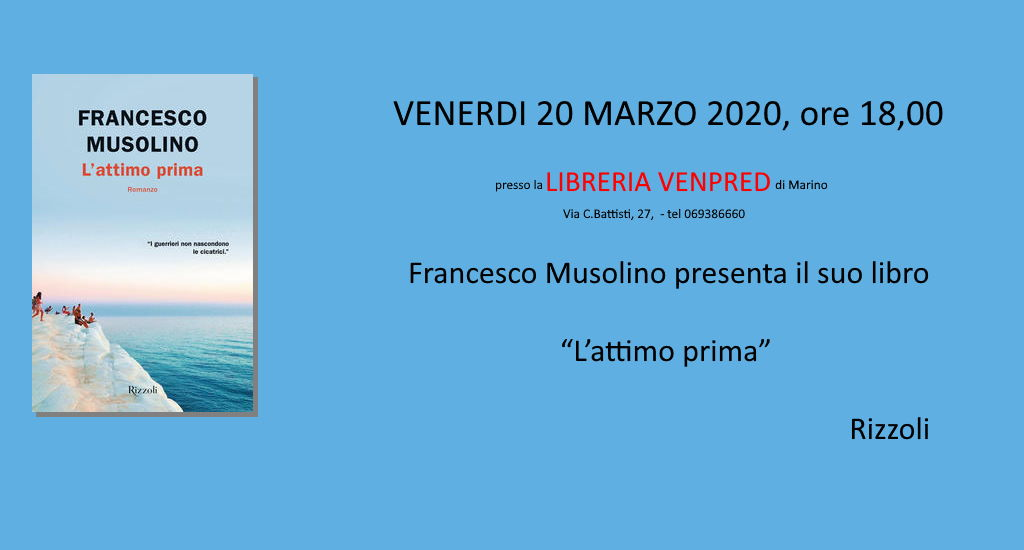 Presentation of the book L'attimo prima